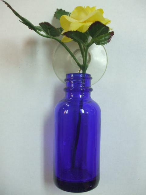 blue hanging bottle