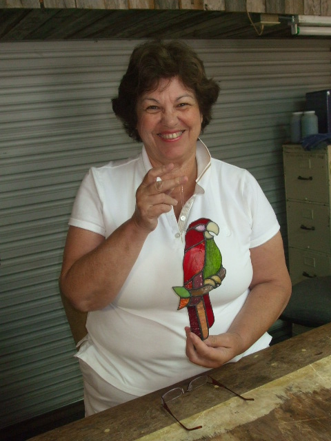 Anne and her Parrot.JPG