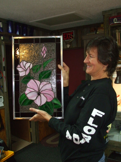 debbie and her flower panel.jpg