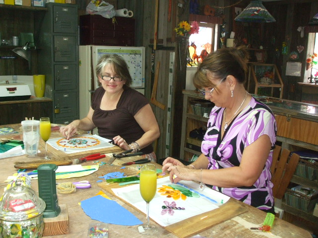 sally and sharon doing mosaics.jpg