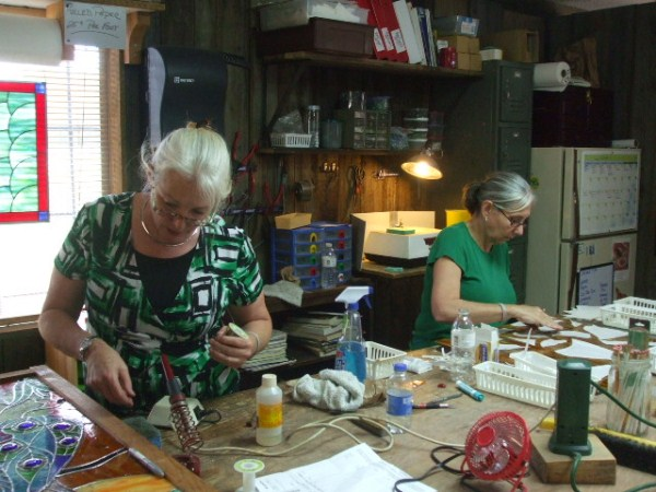 Carolyn and Bonnie working hard!.jpg