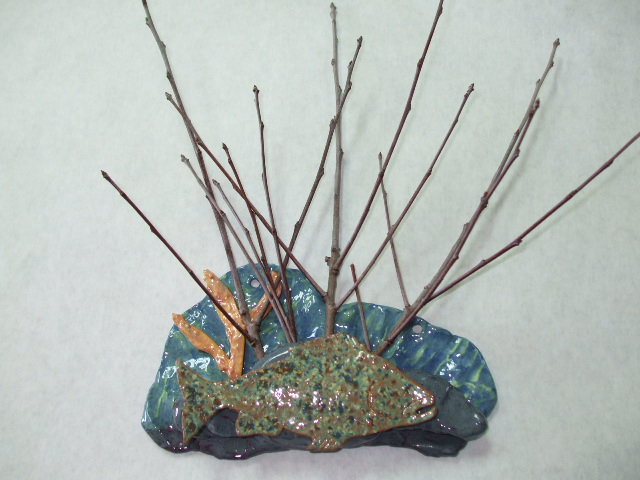 walts clay twig holder